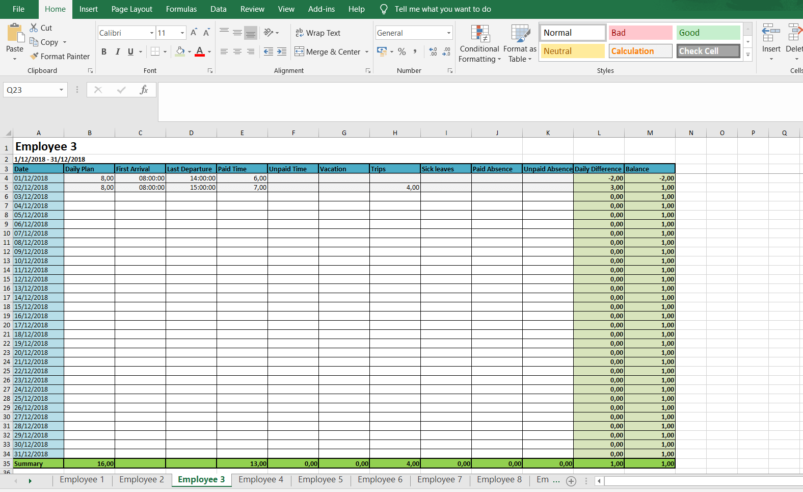 photograph relating to Free Printable Weekly Time Sheets identified as Regular and Weekly Timesheets - Cost-free Excel Timesheet
