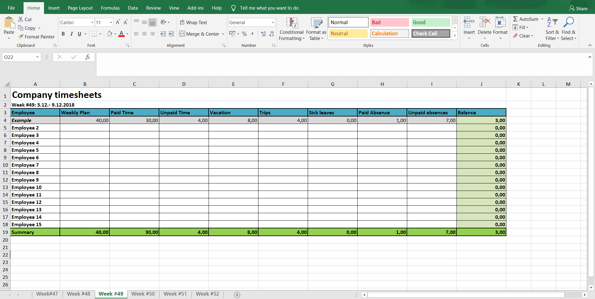 Monthly And Weekly Timesheets Free Excel Timesheet Template Spica International
