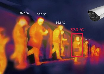 Integration of thermal camera with workforce management platform